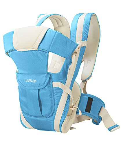 LuvLap Elegant Baby Carrier (Light Blue)