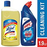 #9: Harpic Toilet Original Cleaner, 1 L with Lizol Floor Cleaner, 975ml (Citrus)