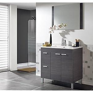 Hogar Decora Mueble de Baño 2 Puertas + 2 Cajones + Espejo + Lavabo de Metraquilato (envios Peninsula + Baleares)