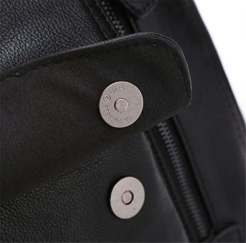 Xinmaoyuan Männer die Männer Handtaschen Handtasche Reisetasche Leder Tasche im Freien Männer Paket, Schwarz Schwarz
