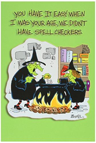 3114'HAD IT EASY Spell Check,–Funny Halloween Grußkarte mit 12,7x 17,8cm Umschlag von Nobleworks (Vintage-zombie-kostüm)