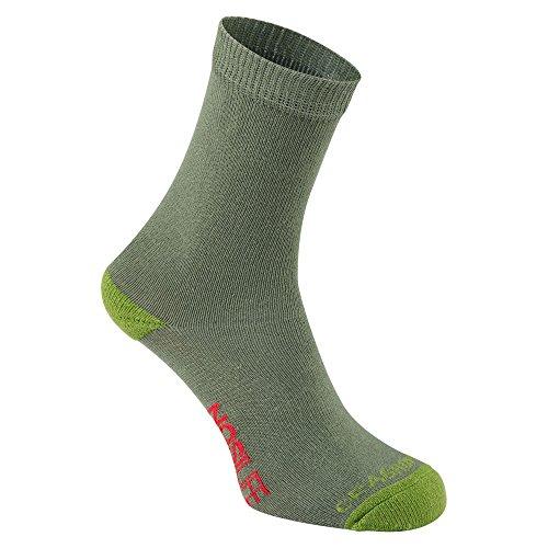 Craghoppers NosiLife Kinder Socken (Kinder 35-40) (Khaki Grün)