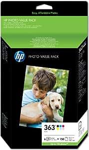 hp 363 series photo value pack cartouche d 39 encre et kit. Black Bedroom Furniture Sets. Home Design Ideas