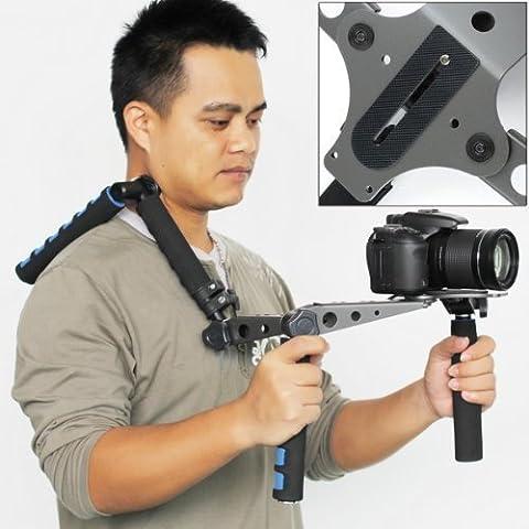 KOWAY ® DSLR Rig Kit pieghevole Film filmati sistema spalla Rig Shoulder Mount supporto Pad per DSLR fotocamera e videocamera come Canon, Nikon, Panasonic, Sony (Pacchetto 1)