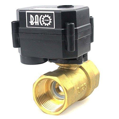 ge Messing BSP Motorkugelhahn Zonenventil(AC/DC9-24V CR04 2 Drähte Elektrische Elektro Kugelventil) ()
