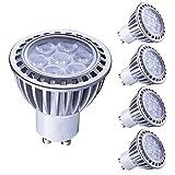 Lampaous gu10 led 7w warmweiss Leuchtmittel Led Lampe Spot Birnen ersetzt 70 Watt Halogenlampe 600lm 230V AC 4er Pack