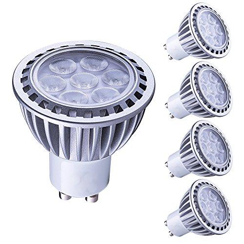 Lampaous gu10 led 7w warmweiss Leuchtmittel Led Lampe Spot Birnen ersetzt 70 Watt Halogenlampe 600lm 230V AC 4er Pack -