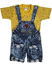 95e915e0fd1 Toonyport Kids Wear Infant Romper Jumpsuit Multicolour Party Dress Denim  Fabric Size-S