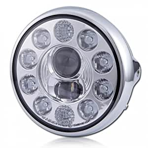 "'Projecteur Led 7 """", Nevo, chrome, 10 LED,"