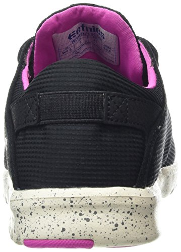 Etnies Scout W's, Chaussures de Skateboard Femme Noir - Schwarz (BLACK/BLACK/PINK / 549)