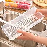 Kicode Frigorífico práctica Cajas de almacenamiento de alimentos Mantenga sellada mariscos frescos vegetales de frutas Nítidas herramientas de la cocina Vajilla