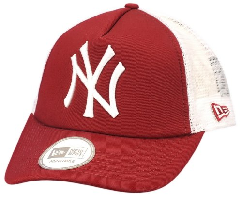 NEW YORK YANKEES - NEW ERA TRUCKER CAP - MLB CLEAN - CARDINAL Größentabelle One-size-fitts-all