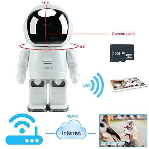 WISEUP-16GB-WiFi-IP-Network-Spy-Camera-Toy-Robot-Baby-Monitor-Pan-Tilt-Home-Security-Camera-Support-iPhone-Android-APP-Remote-View
