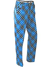LONGRIDGE Blue Plaid Trews pantalones de senderismo para hombre