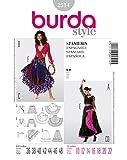 Burda 2514 Schnittmuster KostŸm Fasching Karneval Carmen & Zigeunerin (Damen, Gr, 36 - 48) Level 2 leicht