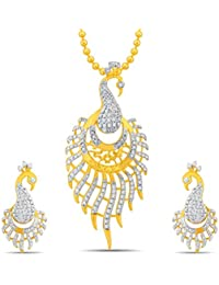 Sukkhi Beguilling Gold And Rhodium Plated Pendant Set With Chain