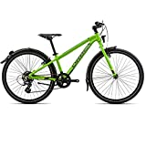 Orbea MX 24 Park Zoll Kinder Fahrrad 7 Gang MTB Rad Aluminium Jugend Mountain Bike Schutzblech, I022, Farbe grün