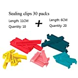 GAIHU Kunststoff-Verschluss-Clips, Lebensmittel Milch Snacks Frische Kunststoff-Dichtung Clips Dichtung Clips Large + Small