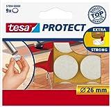 Tesa Protect Filzgleiter, rund, Ø26mm, weiß, 9 Stück