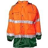 Planam Parka Warnschutz, Größe 4XL in orange/grün, 1 Stück, 2058068