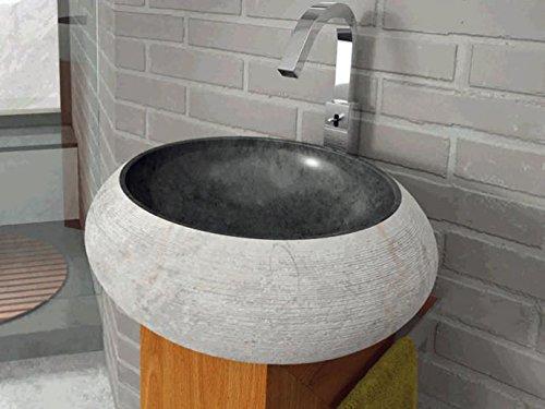 Bathco – Lavabo Bathco Sobre Encimera Piedra Fiji Negro 450X150