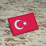 Cobra Tactical Solutions Flagge Türkei Turkey Military Besticktes Patch mit Klettverschluss für Airsoft Cosplay…