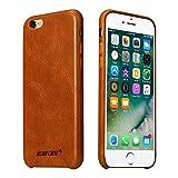 Jisoncase Hülle für iPhone 6 6s, Handytasche in Farbe braun, aus echtem Leder, Zubehör für iPhone 6s 6 Smartphone Tasche (4,7 Zoll (11,9 cm), Lederhülle, JS-I6S-02A20 - 8