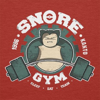 TEXLAB - Snore Gym - Herren T-Shirt Rot