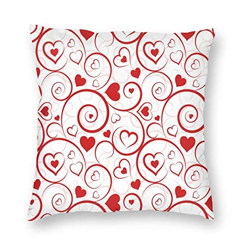 Papalikz Hearts Throw Pillow Cushion Cover,Love and Adoration Themed Vivid Colored Swirls Vortexes and Hearts Abstract Romance,Decorative Square Accent Pillow Case 22