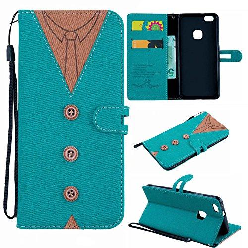 Preisvergleich Produktbild Huawei P10 Lite Hülle,  Leder Tasche Handyhülle Flip Wallet Schutzhülle für Samsung Huawei P10 Lite mit Ständer und Kartenfächer / Magnetverschluss (5)