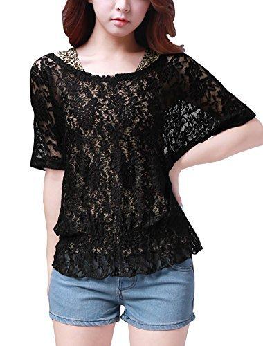 allegra-k-women-half-sleeve-elastic-hem-lace-shirt-w-leopard-prints-tank-top-by-allegra-k
