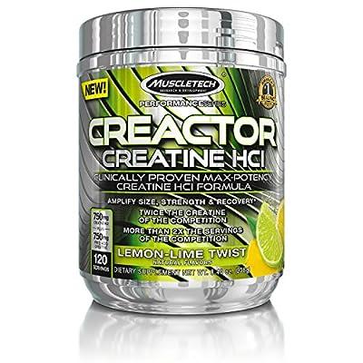 MuscleTech 220 g Performance Series Creactor Lemon Lime Creatine Powder from Muscletech