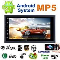 7 2DIN Android 8.1 Coche Reproductor multimedia GPS Navigator Volante Control FM/AM