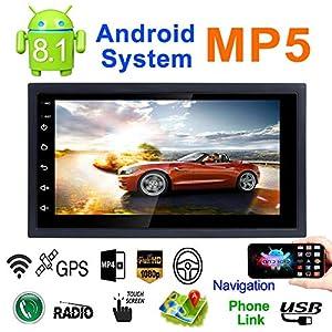 gps navigator: 7 '' 2DIN Android 8.1 Coche Reproductor multimedia GPS Navigator Volante Control...