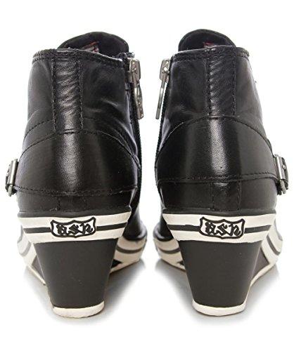 Ash Genial Buckle Wedge Trainers Noir Noir