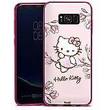 DeinDesign Slim Case kompatibel mit Samsung Galaxy S8 Plus Silikon Hülle Ultra Dünn Schutzhülle Hello Kitty Merchandise Fanartikel Magnolia