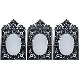 MADHUSUDAN GLASS WORKS Mirror & Plywood Wall Mirror (Pack Of 3, Silver) - B07BJ4KBF8