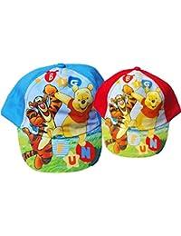 2er Set - Disney Winnie the Pooh Baby Cap - Tigger und Pooh - Big fun - Rot/Blau/Mehrfarbig