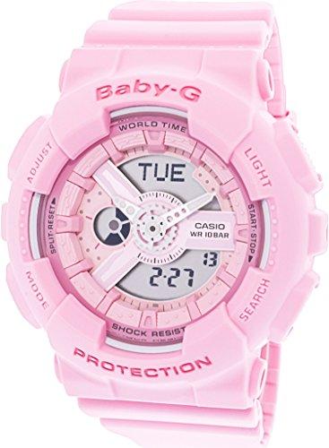 Casio Women's Baby-G BA110-4A1 Matte Pink Polyurethane Japanese Quartz Sport Watch (Casio Frauen Sport)