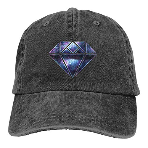 GiveUCap Adult Baseball Caps Hüte Galaxy Diamond 1 Dad Denim Hat Washed Baseball Caps Adjustable for Men Women Diamond Trucker Hut