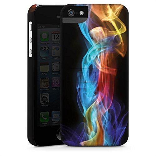 Apple iPhone 5s Housse Étui Protection Coque Fumée Fumée Brouillard CasStandup blanc