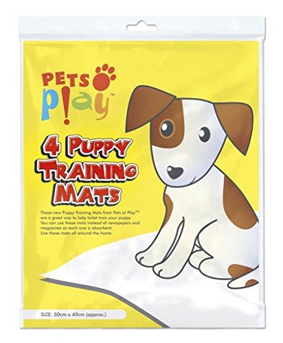 Pets at Play Puppy Tapis d'entraînement 50cm x 40cm 4-Pack
