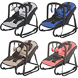 RELAX STARDUST Babywippe Babytrage Schaukel Babyschaukel Babywiege + Spielbogen (BRAUN/ROSE)