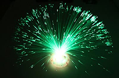 Liroyal Colour Changing Fibre Optic Fountain - Night light Calming Lamp - cheap UK light store.