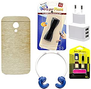 Mify Mobile Accessories Combo for Motorola Moto G, Golden