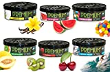 GYD Premium Car Scents Duftdose Vanilla - Bubble Gum - Cherry - Watermelon - Melon & Kiwi - Sport Fresh (All in One 6er Set)