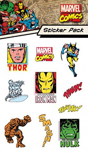 1art1® Set: Marvel Comics, Characters, Sticker Pack Paquet De Stickers (15x10 cm) + 1x Sticker Surprise
