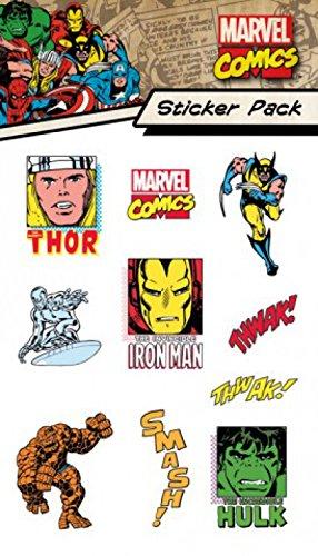 1art1 Marvel Comics, Characters, Sticker Pack Paquet De Stickers (15x10 cm) + 1x Sticker Surprise