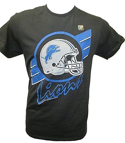 NFL Detroit Lions Striped T-Shirt, Medium,