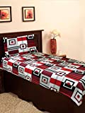 Homefab India 100% Cotton Single BedShee...